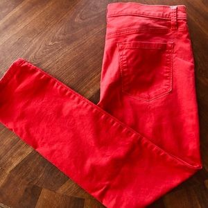 LOFT red denim pants